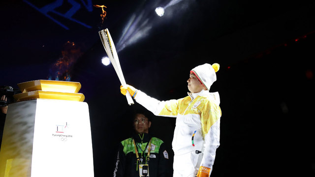 Famous Olympic torchbearers