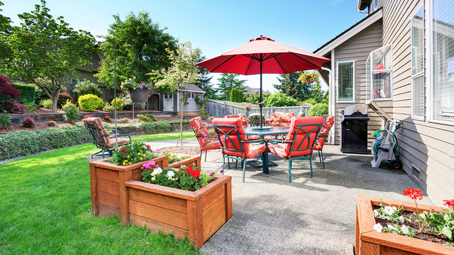 Use bright colors to add life to patio decor