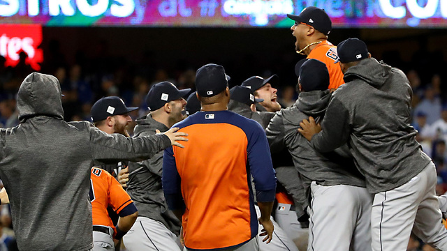 Astros beat Dodgers 5-1 to win World Series