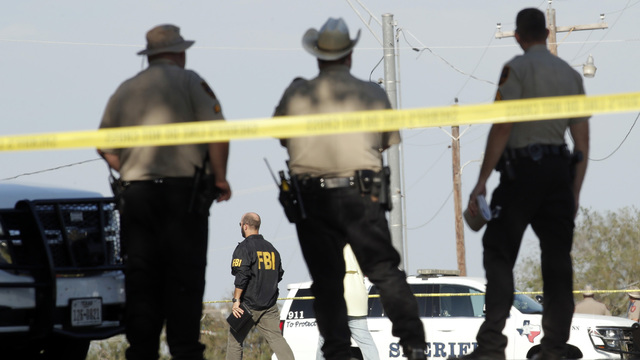 Law enforcement near First Baptist Church, Texas church shooting99872802