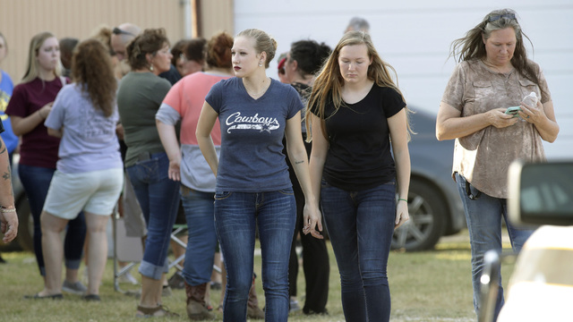People after Texas church shooting near First Baptist Church30743841