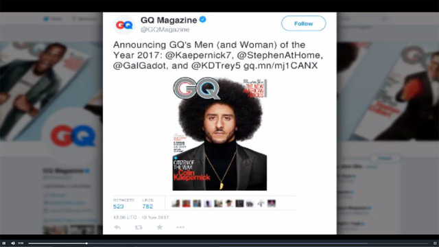 Colin Kaepernick is GQ's 'Citizen of the Year'