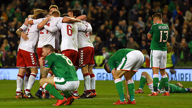 Denmark books World Cup spot with 5-1 Ireland rout