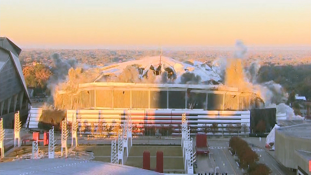 Georgia Dome imploded after 25 years of use