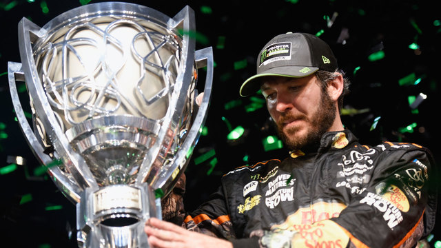Martin Truex Jr winning Monster Energy NASCAR Cup26519422