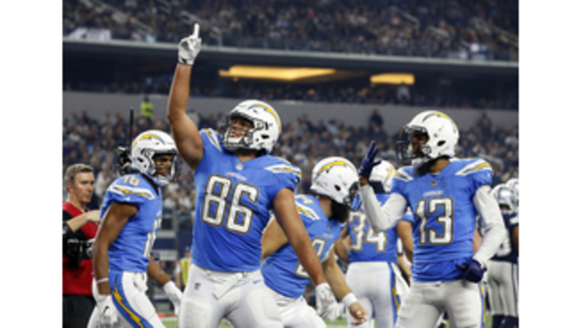 Rivers, Chargers beat fading Cowboys 28-6 on Thanksgiving