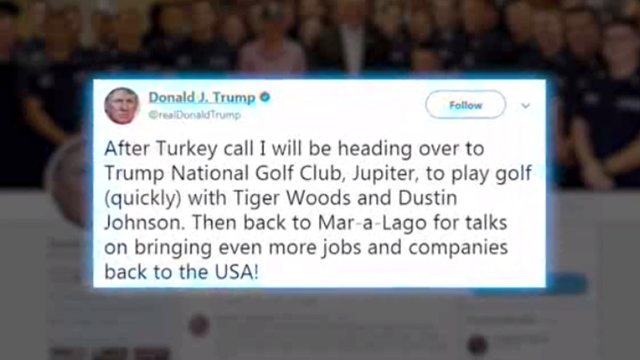 Tiger Woods Golfs With Donald Trump Again On Thanksgiving!