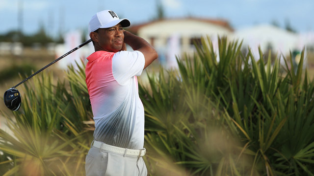Tiger Woods playing in pro-am before 2017 Hero World Challenge68040699
