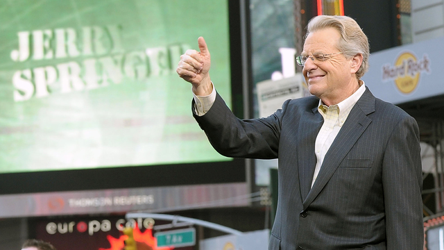 Jerry Springer says he won't run for governor of OH in 2018