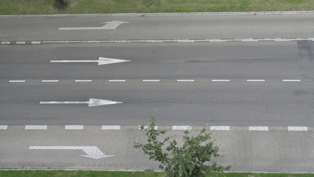 Man caught repainting road arrows to ease daily commute