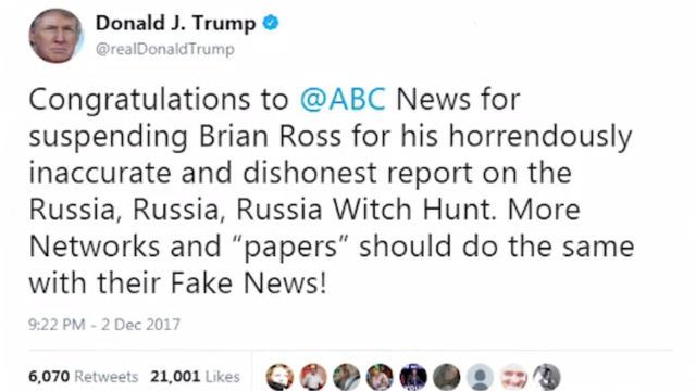 ABC News Suspends Brian Ross For Flynn Report