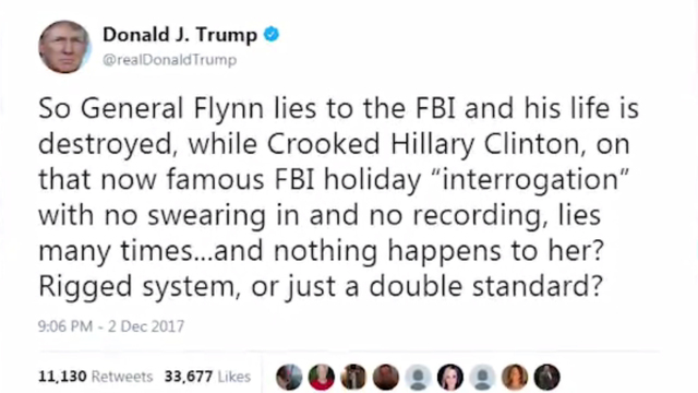 Trump expresses no concern about Flynn plea deal