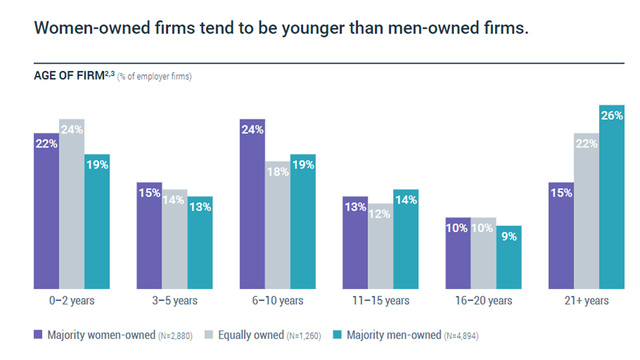 One in 5 small businesses is run by women
