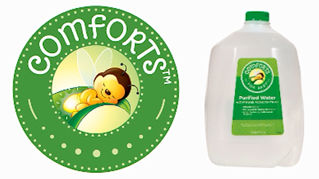 Kroger, other stores, recall Comforts FOR BABY Purified Water
