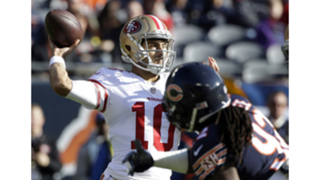 Garoppolo tries to temper hype following 1st start for 49ers