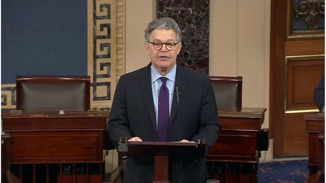 Al Franken resigning, calls out Trump and Moore