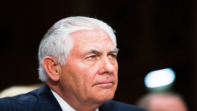 United States  to maintain Russian Federation  sanctions until it withdraws from Ukraine, Tillerson says