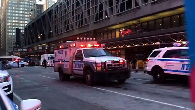 Explosion reported at largest bus terminal in US