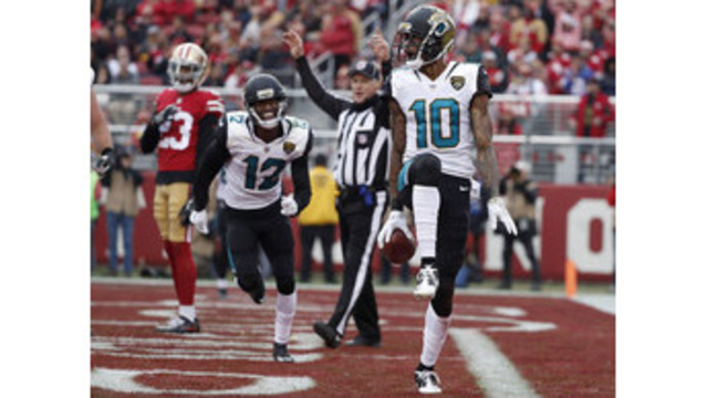 49ers win 4th straight behind Garoppolo, beating Jags 44-33