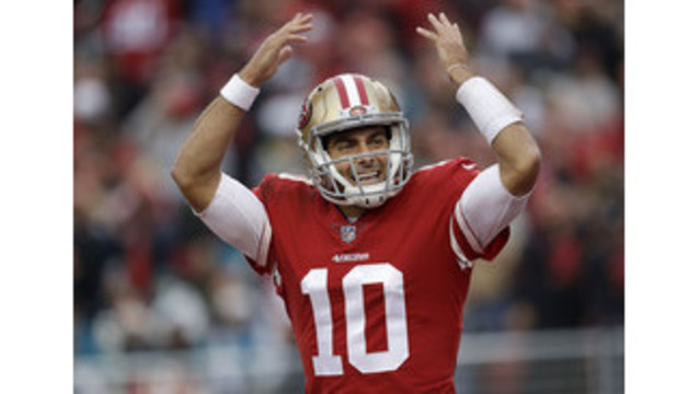 Garoppolo leads surging 49ers past Jaguars 44-33