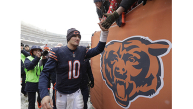 Mitchell Trubisky takes final rookie step against Vikings.