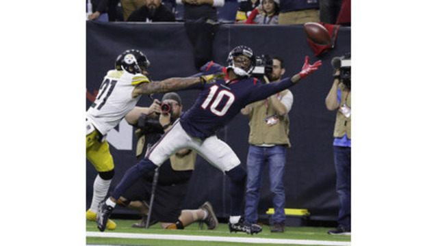 Houston WR Hopkins to miss 1st career game with calf injury