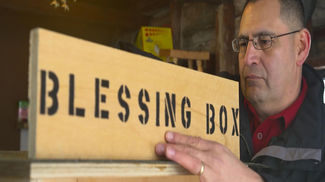 He built a food pantry on his lawn for the hungry. His town followed.