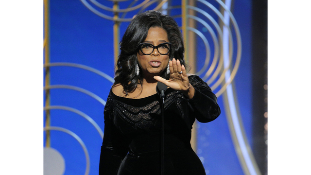 Winfrey says 'time is up' for abusive men in Globes speech