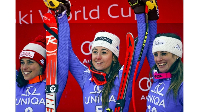 Goggia leads Italian sweep at World Cup downhill; Vonn 27th