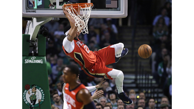 Celtics fall to Pelicans in overtime