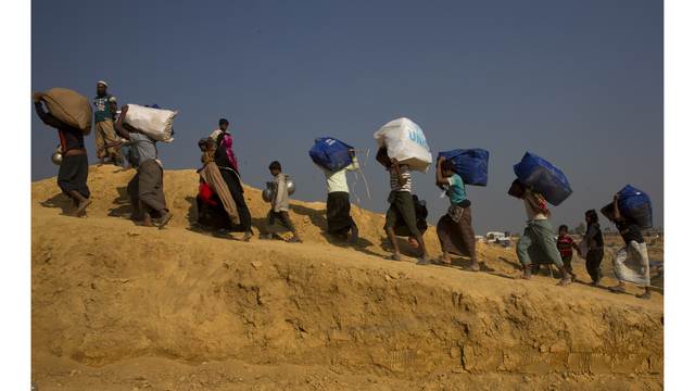 Rohingya refugees protest against move to send them home