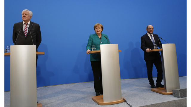 German parties negotiate grand coalition