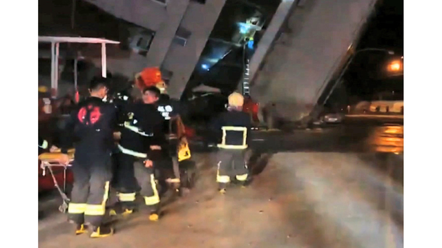 Hotel in Taiwan collapses after 6.4 magnitude quake