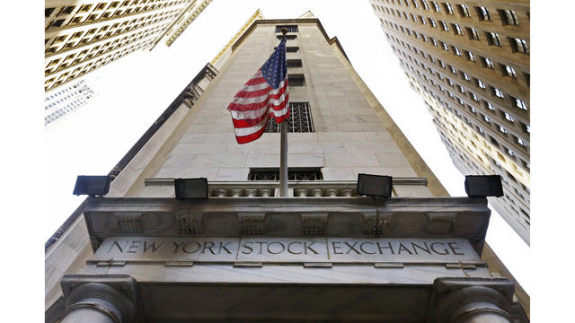 Dow ends turbulent day up 567 points