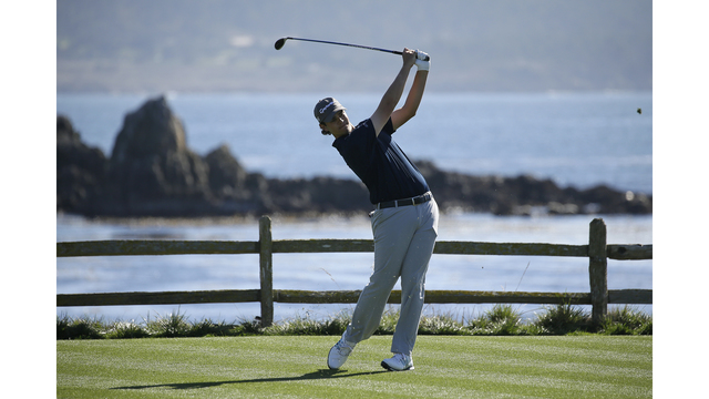 Streelman, Hossler share first-round lead at Pebble