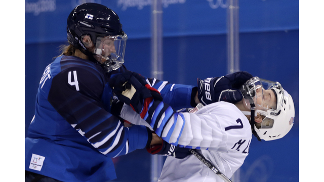 Team USA rallies past Finland 3-1 in Olympic women's hockey debut