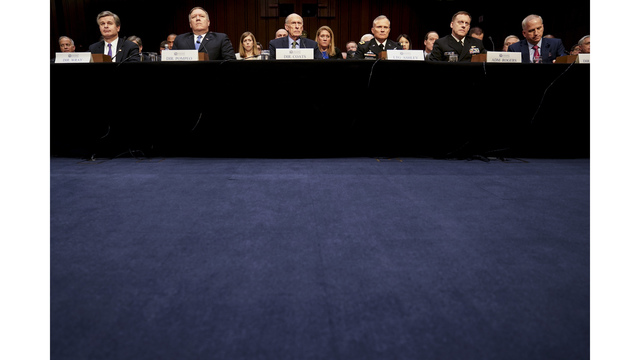 The Latest: Intel chief testifies about North Korean nukes