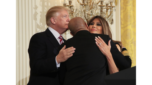 Trump marks Black History Month at White House reception