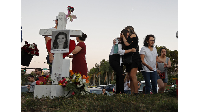 Florida school shooting survivors demand gun control at emotional rally