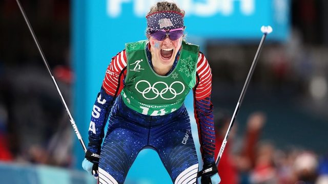 United States of America wins first ever Olympic medal in women's cross country -- Gold!