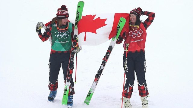 Canadians Serwa, Phelan finish 1-2 in Olympic women's skicross final