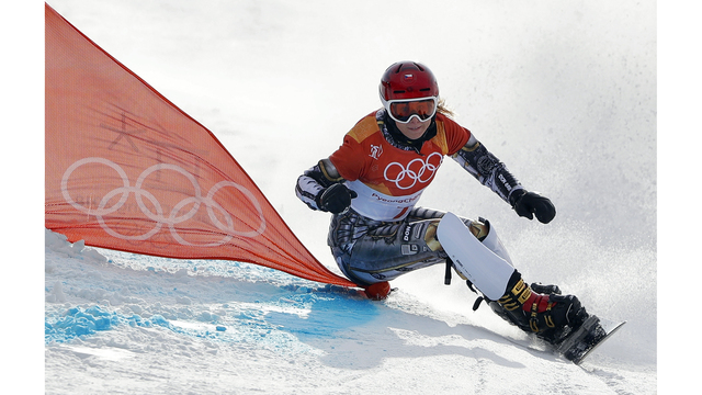 Czech's Ester Ledecka wins snowboarding parallel giant slalom gold, makes history
