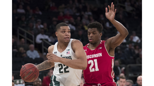 No. 2 Michigan State wins 13th in row, beats Wisconsin 63-60