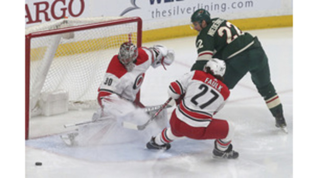 Wild score 4 in 3:28 in rout of 'Canes