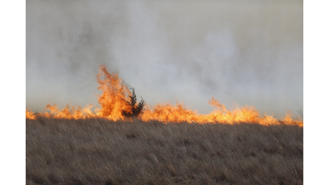 Dry, windy conditions fuel wildfires across Kansas