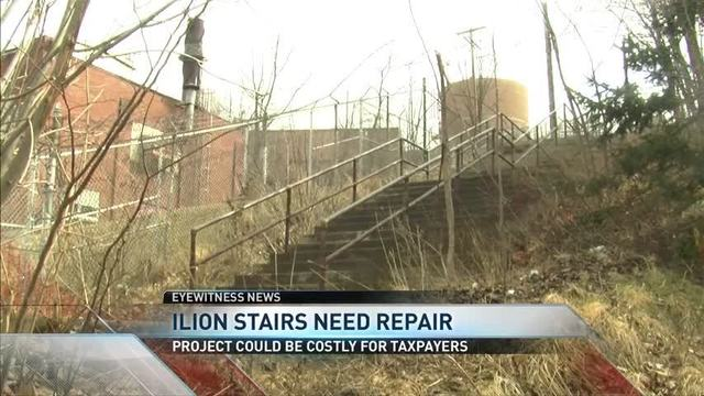 Ilion Residents Advocate for Repair to Century Old Stairs