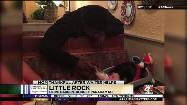 praise for olive garden servers act of kindness - Olive Garden Little Rock
