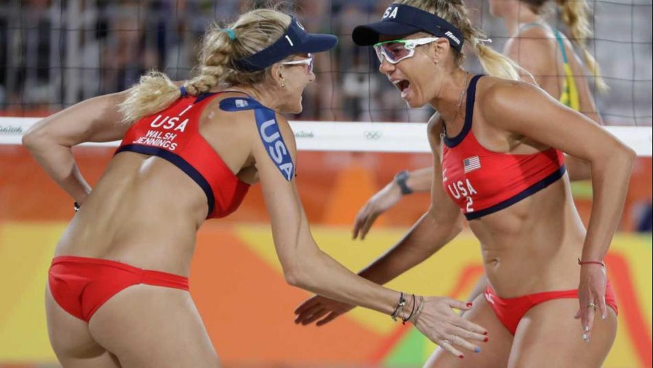 56d790ee771 Sewing for gold  Kerri Walsh Jennings and April Ross talk uniform ...