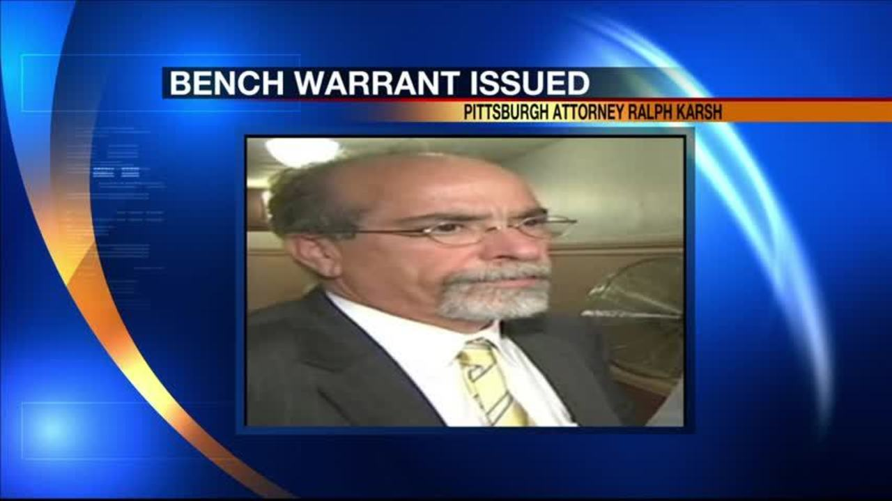 Bench warrant issued for attorney after failing to show up to court