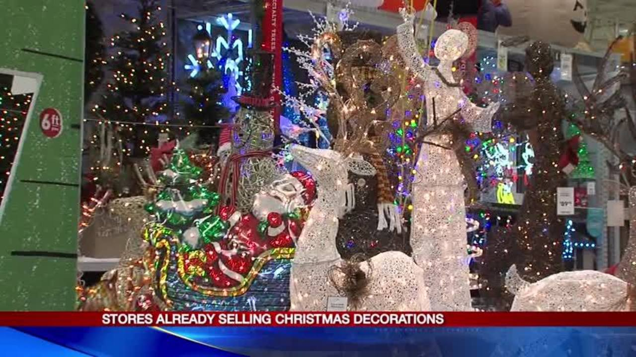 Stores are already selling Christmas decorations